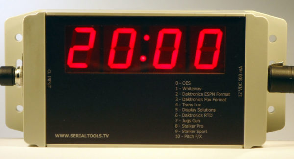 Clock Display with 1 inch 7 Segment LEDs