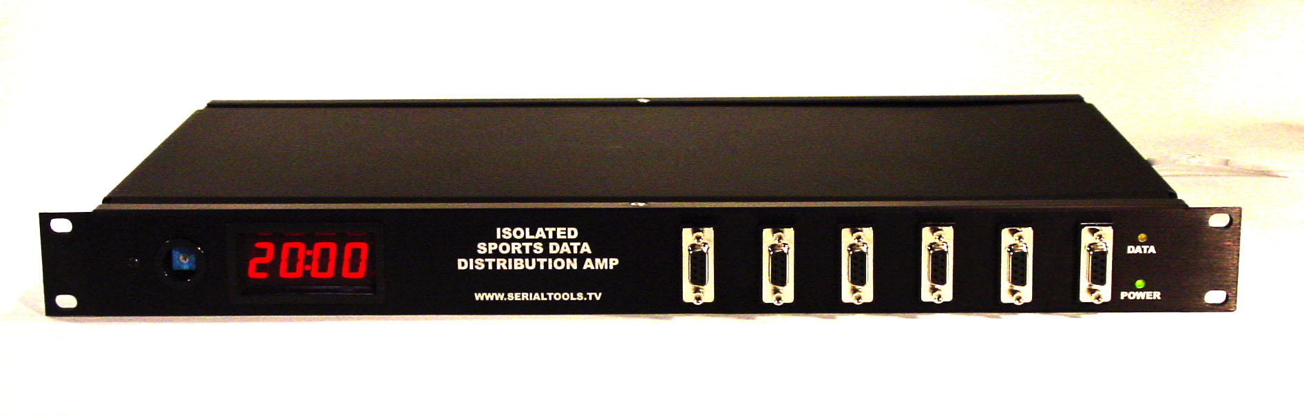 Isolated RS232 Distribution Amplifier with confidence display